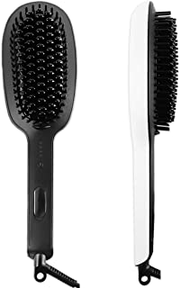 Ceramic Straightener Brush Straightening Hair - Electric Hot Comb With Double Negative Flat Irons,Anti Static,Anti-scald Faster Heated MCH Technology,Auto Shut Off Temperature Lock Functionz