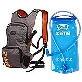 Zefal Z Hydro XC-Noir - Mochila de hidratación (6 L, incluye bolsa de agua de 2 litros), color gris y naranja