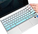 CaseBuy Premium Keyboard Skin for HP 11.6/14 inch Chromebook x360, HP Chromebook 11 11A-NB0013DX/G7 EE/G6 EE/G2/G3/G4/G5, Chromebook 14-db/ca/ak/DA 14B-CA 14a-na Series, Chromebook Cover, Ombre Mint
