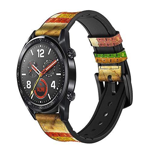Innovedesire Vintage Periodic Table of Elements Correa de Reloj Inteligente de Cuero para Wristwatch Smartwatch Smart Watch Tamaño (18mm)
