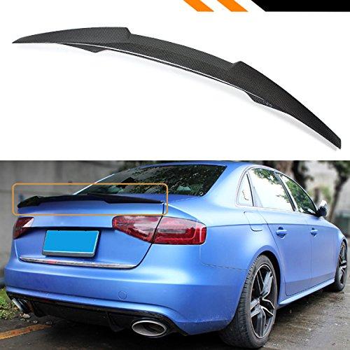 Cuztom Tuning Fits for 2009-2012 Audi A4 B8 V Style Highkick Duckbill Carbon Fiber Trunk Lid Spoiler Wing