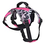 Escape Proof Outdoor Harness, Reflective Multi-Use Harness for Dogs Hiking, Walking & Climbing, Large