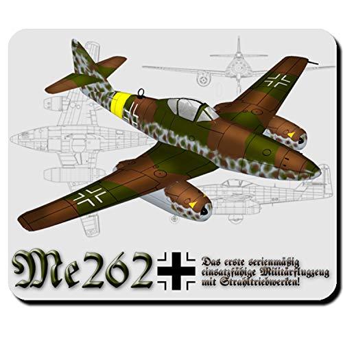 Me 262 Flugzeug Jäger Schwalbe Strahltriebwerk Mauspad #4067m