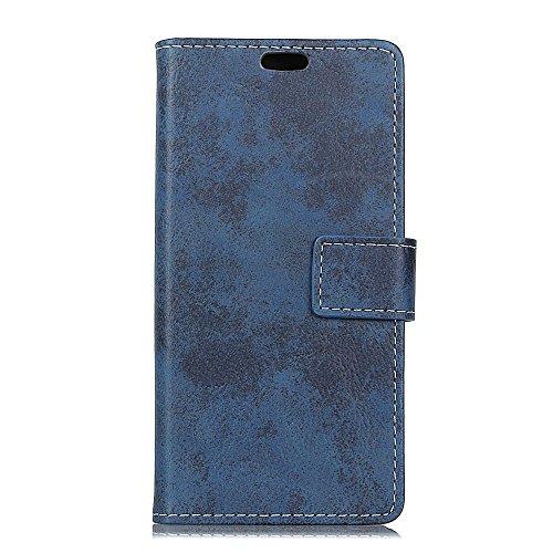 jbTec Handy Hülle Hülle Vintage - Handyhülle Schutzhülle Phone Cover Tasche Handytasche Zubehör Smartphone Flip, Farbe:Navy-Blau, passend für:Wiko View 2 Go