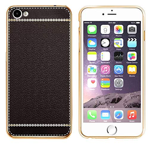 Coolskin Leather - Carcasa para Apple iPhone 8 Plus/7 Plus, color negro