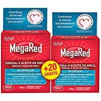 Megared Omega 3 - Aceite de Krill Complemento Alimenticio sin Regusto a Pescado 60 + 20 cápsulas gratis