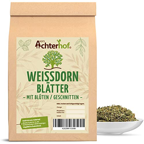 Weißdorn Tee | 1kg | Weißdornblätter mit Blüten geschnitten | Weißdorntee vom-Achterhof