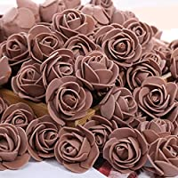 ローズベア500ピースフォームローズ3センチ人工フラワーヘッドPEローズクマアクセサリー装飾バレンタインデーギフト-19-100ピース、