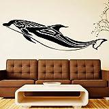 yaonuli Etiqueta de la Pared extraíble delfín océano para la Etiqueta de la Pared del Vinilo del Dormitorio de los niños 42X143cm