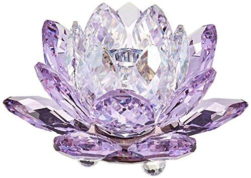 Swarovski Kerzenhalter Waterlily naturschaum, Violett