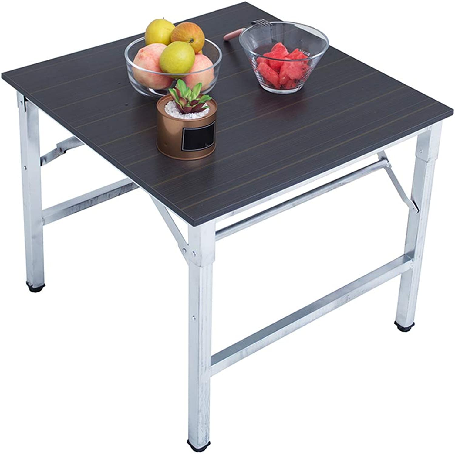 NJLC Folding Small Table, Portable Dining Table Small Table Simple Household Folding Table,60×60×50cm