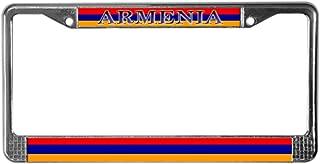 CafePress Armenia Armenian Flag Chrome License Plate Frame, License Tag Holder