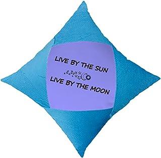 OFFbb-USA Live by The Sun/Moon - Funda de almohada decorativa para cama de coche, color azul