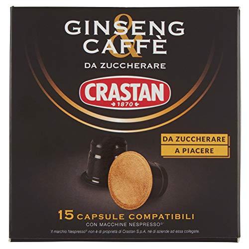 Crastan Capsule Compatibili Nespresso - Ginseng & Caffè da Zuccherare - 15 capsule
