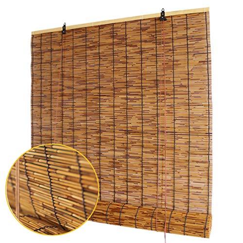 Bambusrollos - Vorhänge - wasserdichte Balkontrennwand für den Innen- und Außenbereich,Bambusrollo