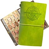 HOLDS MORE PRESSED PENNIES! Holds 128 pressed pennies and 18 pressed quarters or nickels, 72 page journal and a zipper pocket for extra change or even more pressed pennies! The Journal is expandable; so you can add more sheets to hold more pennies! I...