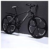 COSCANA Bicicleta De Montaña Rígida con Ruedas De 26 Pulgadas, Cuadro De 17'Bicicleta MTB con Frenos De Disco Doble, Bicicleta para Hombres Y Mujeres con Suspensión DelanteraBlack-27 Speed