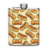 Flacons Saucisses Hot Dog Design Portable 304 En Acier Inoxydable Anti-Fuites Alcool Whisky Liqueur Vin 7OZ Pot Hanche Flacon Voyage Bouteille Camping Flagon Pour Homme Femme Grand Petit Cadeau