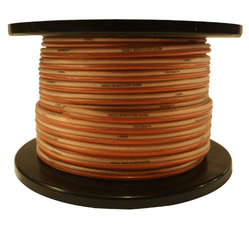12 Gauge 200ft Speaker Wire True 12GA Vlynx Soft Cable Spool Compatible with car Home Audio