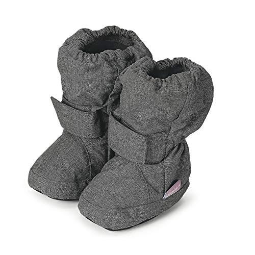Sterntaler Mädchen Baby Stiefel mit Klettverschluss, Grau (Anthracite Mel. 592), 21/22 EU