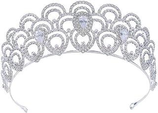YNYA Tiare Bridal Tiara Zircon Strass Crown Wedding Dress Accessori Accessori da Sposa Accessori Abito da Sposa Regalo