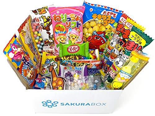 Sakura Box Japanisches Süssigkeiten Snack Schokolade Dagashi Süßigkeiten Sortiment 20 Artikel