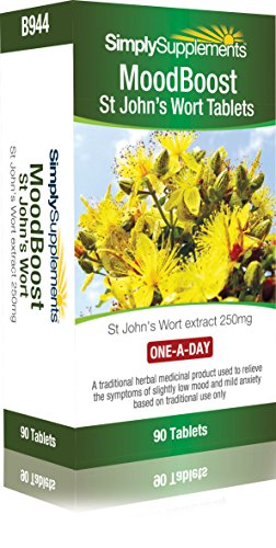 St Johns Wort Tablets | May Help Low Mood and Mild Anxiety | One-a-Day Formula: 90 Tablets = 3 Month Supply | Manufactured in The UK
