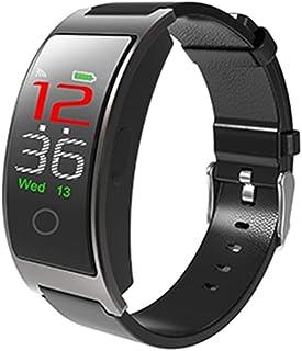 WUHUAROU Banda Inteligente Pantalla Colorida Pulsera de frecuencia cardíaca Presión Arterial Fitness Banda Inteligente Reloj Deportivo Pulsera (Color : Black)