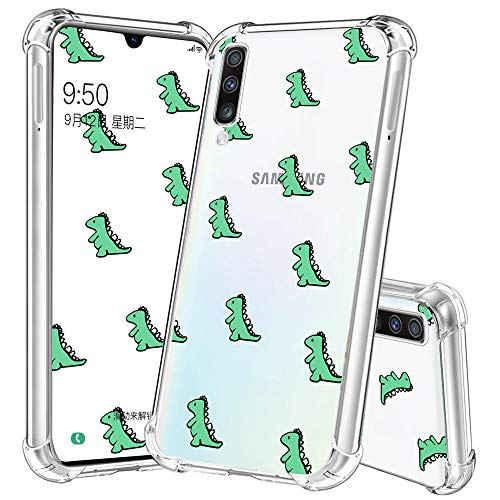 Cute Case for Samsung Galaxy A50,Dinosaur Case for Samsung Galaxy A50,YESPURE Cute TPU [Shock Absorbing] Soft Bumper Protective Case Cover for Samsung Galaxy A50- Cute Dinosaur 04#