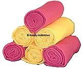 Family-Kollektion 6er Pack Mullwindeln bunt I hautfreundliches & angenehm weiches Schmuse-Tuch I Spucktücher Baby aus 100% Baumwolle I 6 Stück Baumwoll-Tücher 70 x 80 cm (Orange/Bordeaux)