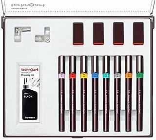 FineArt Technoart Technical Drawing Pens - Set 0f 8
