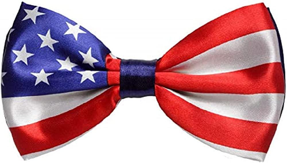 Set of 3 USA Flag Bow Ties July 4 Memorial Day Party Accessory