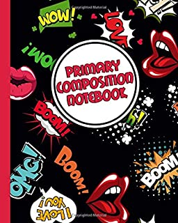 Primary Composition Notebook: Cool Pop Art Handwriting Notebook with Dashed Mid-line and Story Paper Journal | Grades K-2,...