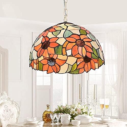 Lámpara Escritorio Lámpara colgante de estilo mediterráneo lámpara colgante colgante de metal de vidrio de una sola cabeza moderna barra minimalista loft aprendizaje iluminación de techo decorativa