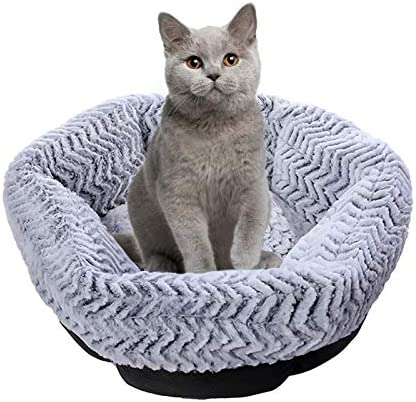 Queta Warming Round Donut Puppy pet Bed Machine Washable Comfortable Bed with Anti Slip and product image