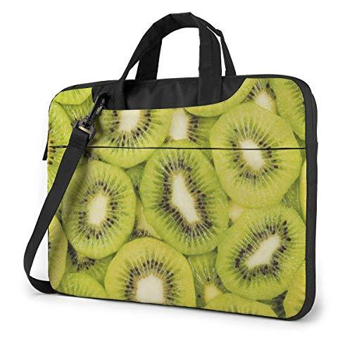 Bolso de Hombro para computadora portátil de Fruta de Kiwi Fresca Compatible con computadora portátil MacBook Pro con Correa,