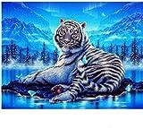 1000 Piezas Jigsaw Creativo Puzzle Adultos Aurora White Tiger D Personalidad niños y Adultos Juego de Rompecabezas