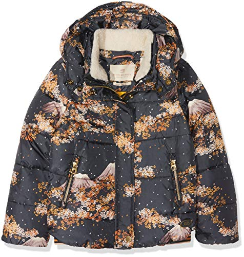 Scotch & Soda meisjes jas/jack Puffer jacket with detachable teddy collar in short length