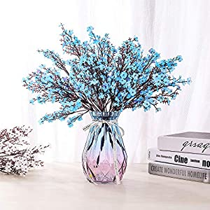 LUSHIDI 6PCS Artificial Baby Breath Flowers Fake Silk Real Touch DIY Floral Bouquets Decor Wedding Party Decoration Arrangements