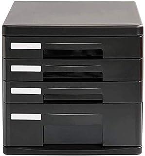 Armoires de bureau plat en plastique A4 pour rangement de données, tiroir de bureau, armoire de rangement (design : 4 tiro...