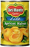 Del Monte, Lite Apricots in Extra Light Syrup, 15oz Can (Pack of 6)
