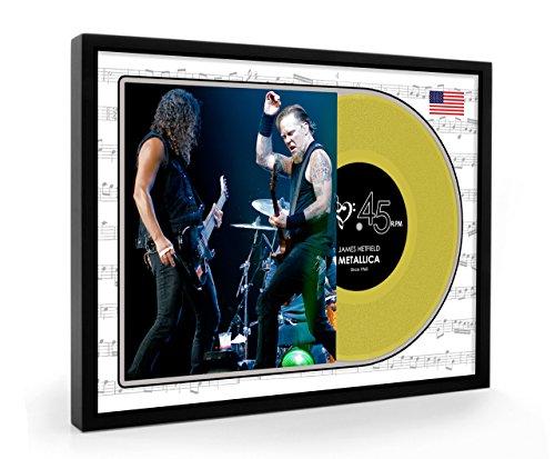 James Hetfield Metallica Framed Goldene Schallplatte Display Premium Edition (O)
