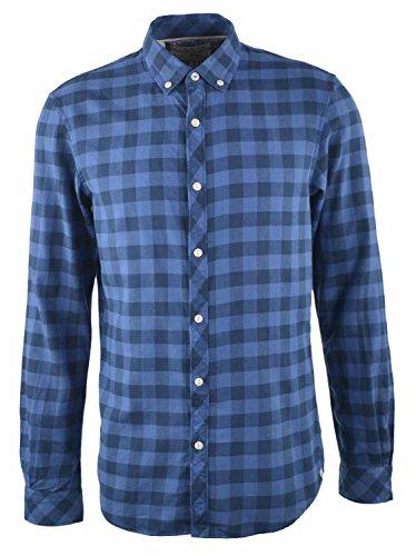 TOM TAILOR denim mannen blouses, shirts & overhemden geruit twill hemd