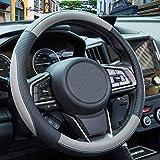 Coprivolante Pelle - ZATOOTO Coprivolanti per Auto, Universale, 37-38cm