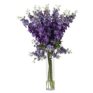 Nearly Natural Nearly Natural Delphinium Silk Flower Arrangement 1