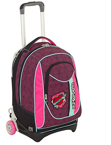 Seven- Trolley New Jack-Rebel Girl, Colore Rosa, 50 cm, 201001828-382