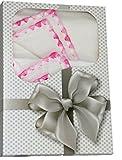 Babymajawelt® Molton Stoffwindeln 2er Pack, Geschenk Set - Wickelauflage, Spucktuch, Babydecke, Stillzubehör, Sommerdecke, Geschenk zur Geburt (gemuschel rosa)
