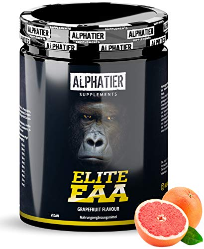 EAA Powder 500g - Highest Dosage - All Essential Amino acids - Grapefruit Flavour - Alphatier Instant EAAs Powder - Essential Amino acids