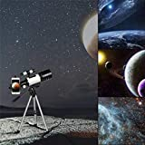 AZOD F30070M Telescope for Kids Beginners, High Definition High Power Telescope with Adjustable Tripod & Bracket Telescope, Portable Travel Telescope Perfect for Teens