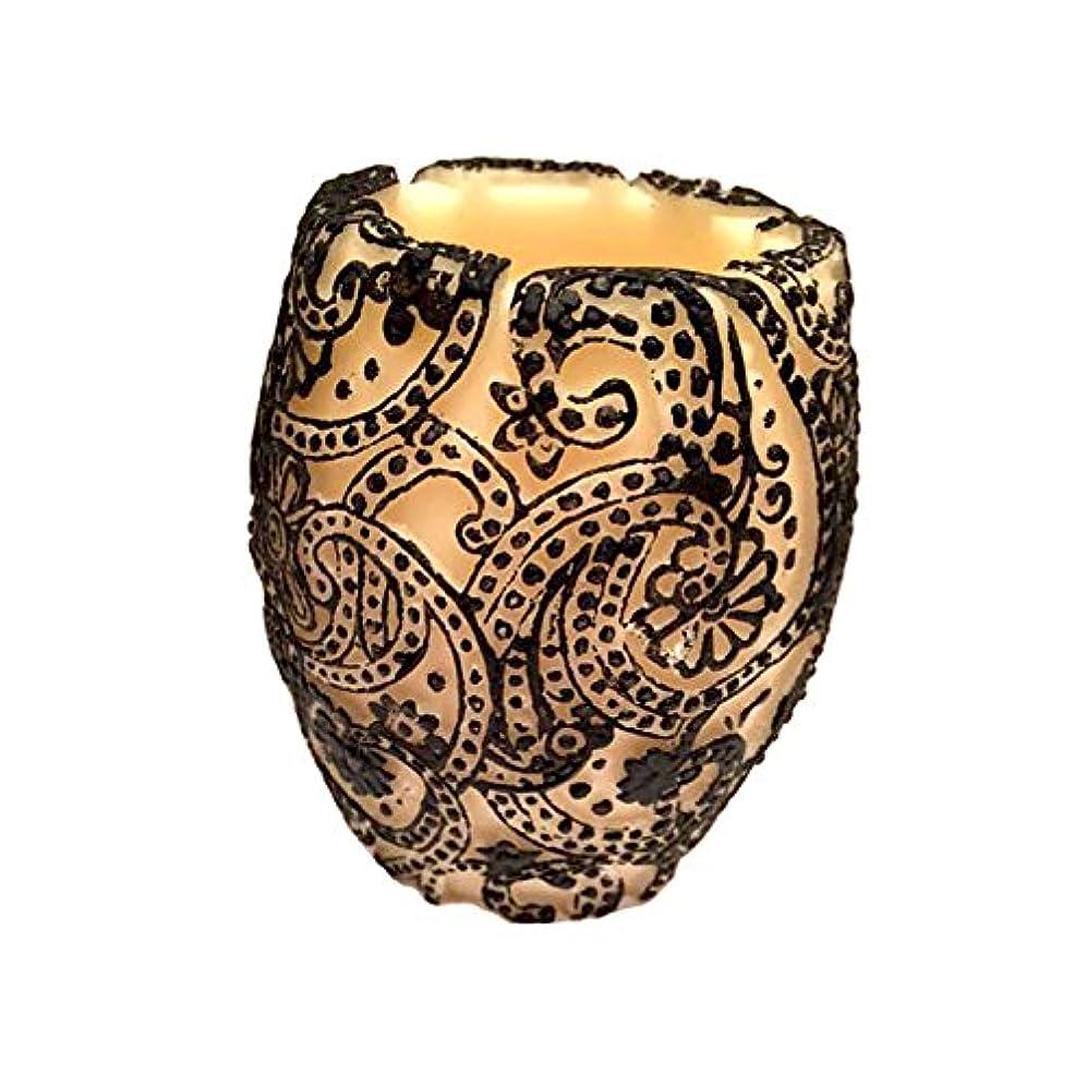枠舌な吹きさらしPaisley Vase (Ivory×Black/グリーンティー)